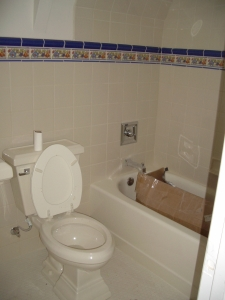 Gibralter Bathroom: Nice tile work and finished bathroom